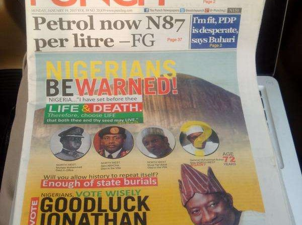 fayose buhari death advert